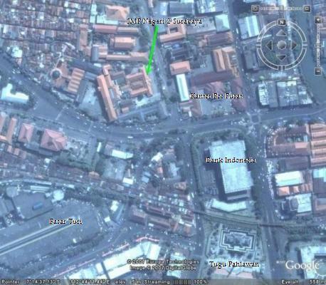 Peta SMP Negeri 2 Surabaya (Spendabaya)